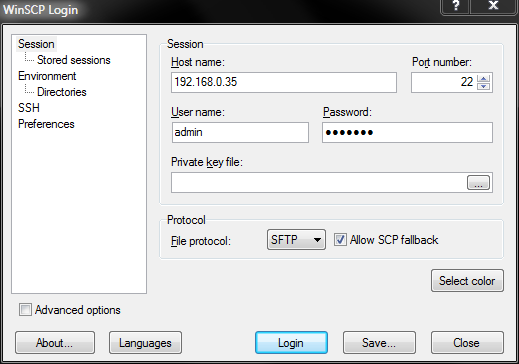 WinSCP How To Guide - Swivel Knowledgebase