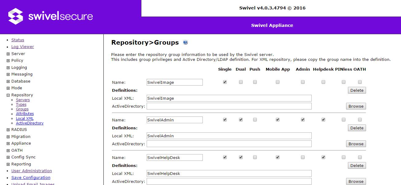 Swivel Core V4 Repository Menu - Swivel Knowledgebase