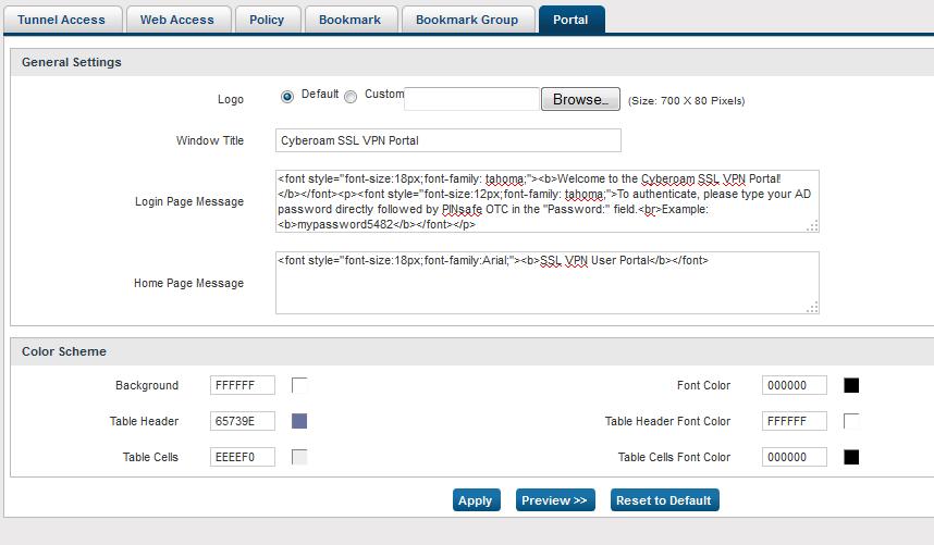 Cyberoam UTM SSL VPN - Swivel Knowledgebase