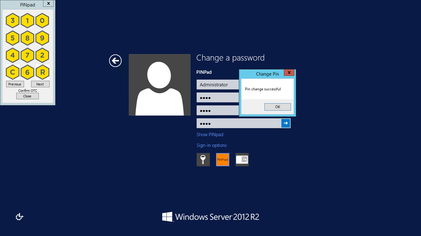 Windows logon credentials are unavailable - Credentialprovider2pinpadchangepinsuccessful Png