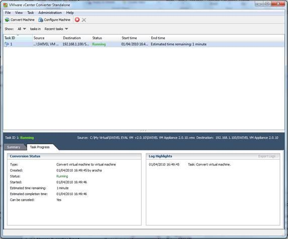 VMWare Converter How to Guide - Swivel Knowledgebase