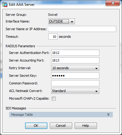 Sentry SSO with Cisco ASA - Swivel Knowledgebase