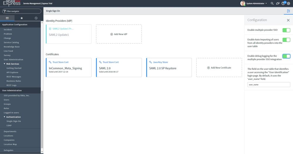 Sentry SSO with ServiceNow - Swivel Knowledgebase