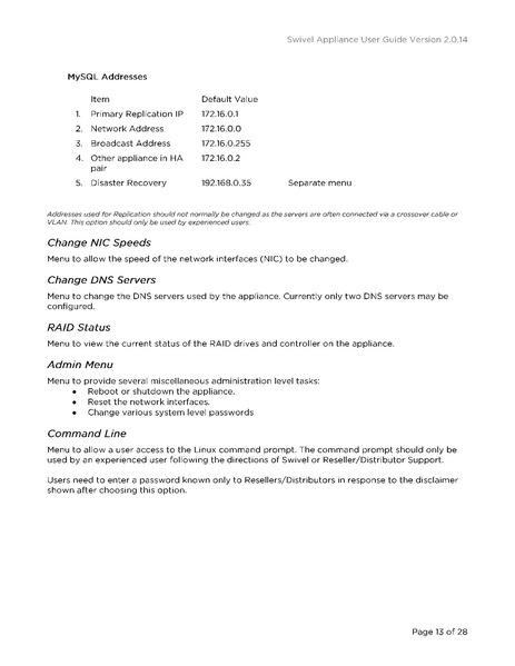 File:Appliance User Guide pdf - Swivel Knowledgebase